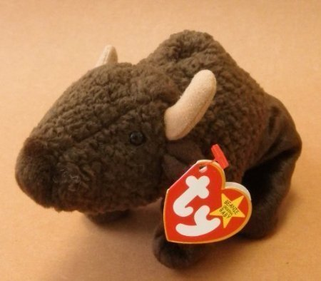 TY Beanie Babies Roam the Buffalo Plush Toy Stuffed Animal