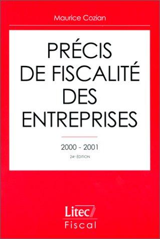 Précis de fiscalité des entreprises, 1999-2000 (ancienne édition)