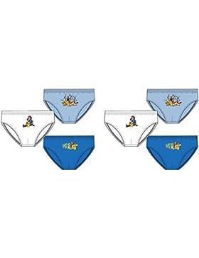 Suncity Pack de 6 slips diseño POKEMON (Nintendo) (3 diseños diferentes) tallas 4/5, 6/8 y 10/12 años