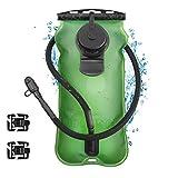 Kuyou Trinkblase 3L (106oz) Wasserreservoir Pack mit Schraube Cap 2 Klemme perfekt für Outdoor Radfahren Klettern Wandern Laufen