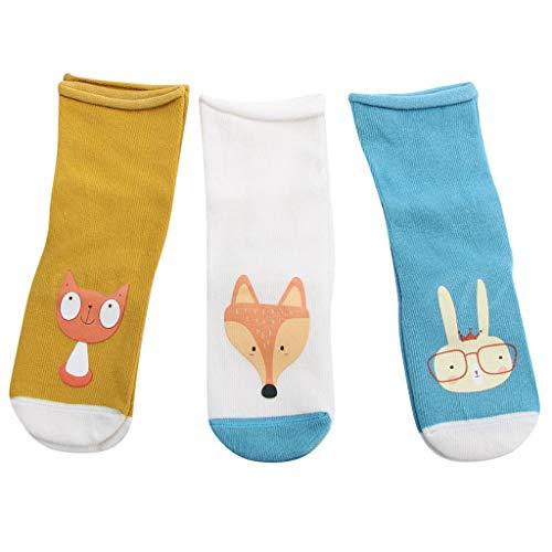 Ears Damen Socken Frauen Männer 3Pairs Neugeborenes Baby -