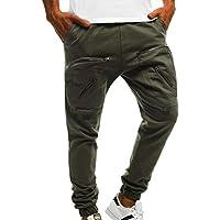 Hombre Gym Fashion Sport Pants Workout Running Pantalones Zip Cargo Pants M-3XL
