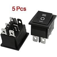 SODIAL(R) 5 x Interruptor Basculante 6 Pin DPDT ON-OFF-ON 3 Posicion 15A/250V 20A/125V CA