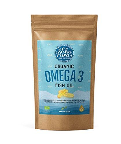 Bio Omega 3 - Fischöl - Bio zertifiziert - 90 Kapseln (Fisch-öle Bio)