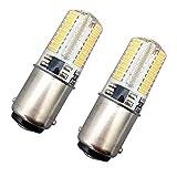 2 Pièce KingYH 4W Ampoules LED Ba15 Machine à Coudre Lampe Ba15d SBC Baïonnette Ampoule 72 LEDs Gel de Silice 3000K Blanc Chaud Équivalent Lampe Halogène 35W 360° Angle Faisceau pour Cuisinière Hotte
