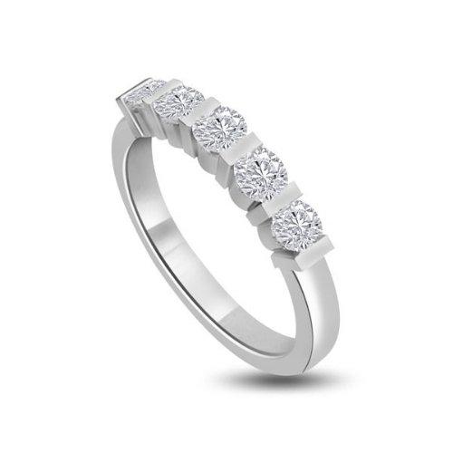 0.50ct F/VS1 Diamante Half Eternity Anello da