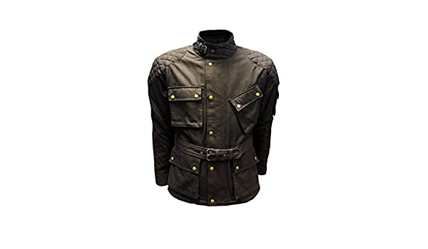 ARMOUR BIKER JACKET WP Lined New Mens Black COTTON WAXED Motorcycle Breathable