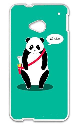 JiorJfe Custom HTC_One_M7 Case,Panda Hard Plastic Hard Case for HTC_One_M7 Htc Panda