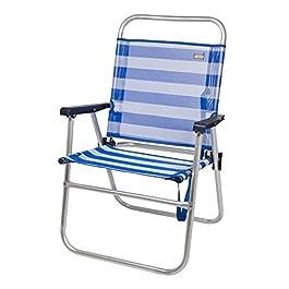 Aktive 53952 – Sedia Pieghevole Fissa Alluminio Beach 51x56x90 cm – Blu