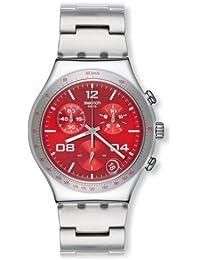 Swatch BLUSTERY RED - Reloj (Reloj de pulsera, Masculino, Acero inoxidable, Acero