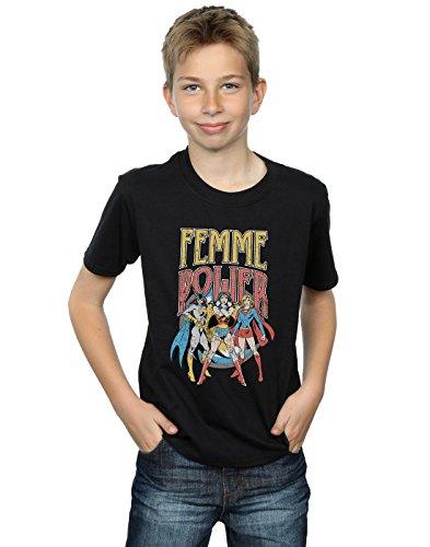 DC Comics Jungen Wonder Woman Femme Power T-Shirt 5-6 Years Schwarz