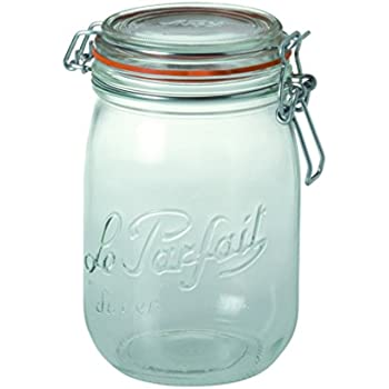 Le Parfait Super Deluxe Jar 1000 g (35 oz), le verre français - Lot de 6