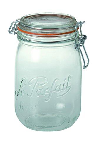 Le Parfait Super Deluxe Jar 1000 g ( 35 oz ) , le verre français - Lot de 6