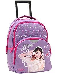 Sac à dos Trolley scolaire Violetta- Rose-39 cm