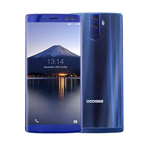 andy BLUBOO D5Pro (32 GB, 3 GB RAM) Global 4G LTE GSM Android Dual-SIM entsperrt, Metallrahmen, MTK6737 Quad-Core 1.3GHz (Blau) (Handy Entsperrt Sim)