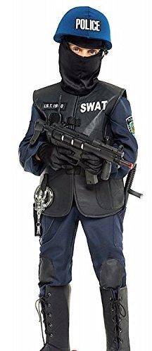 e Herstellung Jungen Luxus SWAT Polizei Halloween Karneval Kostüm Kleid Outfit 3-12 Jahre - 6 years (Swat Halloween Kostüm)