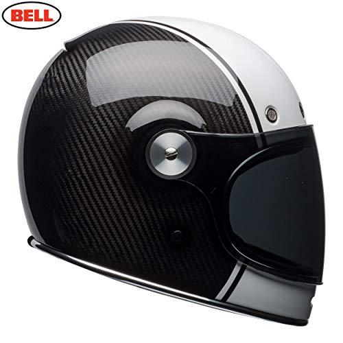 BELL HELMET BULLITT CARBON PIERCE BLACK/WHITE M (Carbon Helm Bell)