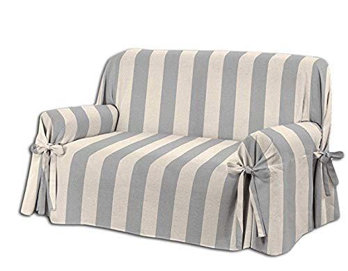 HomeLife–sillón/Sofá de Dos o Tres Puestos–Funda Elegante con diseño A Rayas–Tela de...