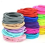 #10: FOK Set Of 25 Pcs Mix Color Elastic Cotton Stretch Hair Ties Bands