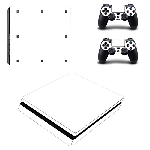 stillshine PS4 slim Console design Foils Vinyl Skin Sticker Decal Sticker and 2 Playstation 4 slim DualShock contrôleur Skins Set Blanc blanc (all white)