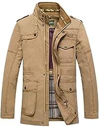 Herren Pu Lederjacke Biker Kunstleder Bikerjacke Zipper Jacke Style Mit  Stehkragen Slim Wesentlich Jacken Mantel d27ef66974