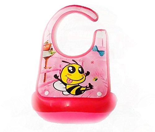 TBS bambino per bambini di fumetto bavaglino x 1 - Rosa Bumble Bee