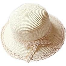 Hosaire 1x Sombreros del Sol Encaje Pajarita Sombrero de Paja para bebé para  Gorras de Visera 2d6a43fbfd84