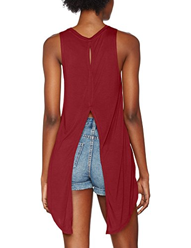Urban Classics Damen Ladies Hilo Viscose Top Rot (burgundy 606)