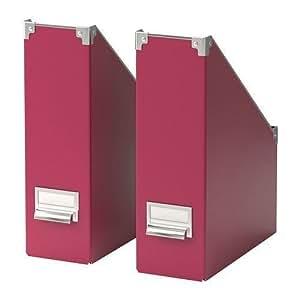 Ikea Ikea Kassett Lot de 2 range-revues Rose foncé-Chemise de rangement Ikea
