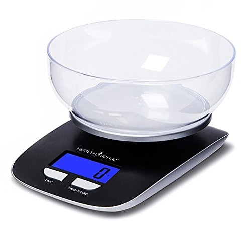 Health Sense Chef-Mate Digital Kitchen Scale-KS33 (Black)