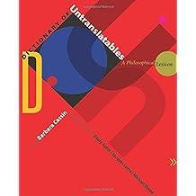 Dictionary of Untranslatables (Translation / Transnation)