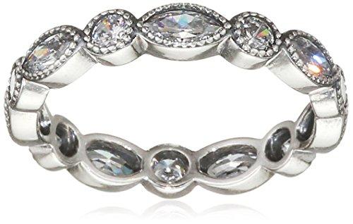 Pandora Damen-Ring Kreise und Ellipsen 925 Silber Zirkonia weiß Gr. 50 (15.9) - 190940CZ-50
