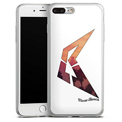 Apple iPhone 8 Slim Case Silikon Hülle Schutzhülle Visca Barca Fanartikel Merchandise Visca98Barca Youtuber Silikon Slim Case transparent