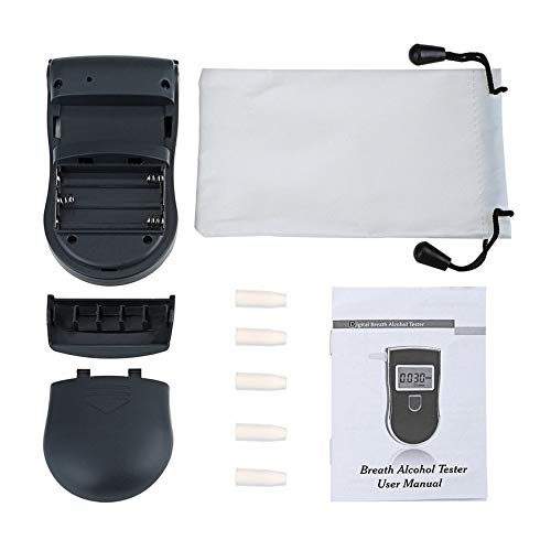 Peanutaso Detector de analizador de alcoholímetro de policía portátil Digital LCD Alcohol Sensor...