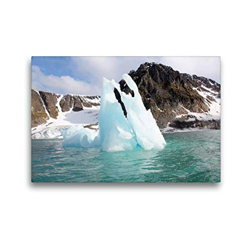 Calvendo Premium Textil-Leinwand 45 cm x 30 cm quer, EIN Motiv aus dem Kalender Schönes Svalbard | Wandbild, Bild auf Keilrahmen, Fertigbild auf echter Leinwand, Leinwanddruck Natur Natur