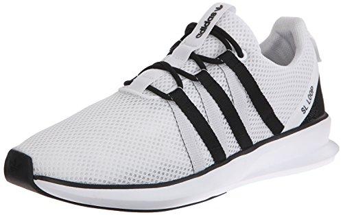 Adidas Originals Sl boucle Racer Chaussures à lacets, noir / gris / gris, 7 M Us White/Black/Black