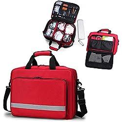 Qnlly Bolsa de Primeros Auxilios vacía Enfermera/Médico Primeros Auxilios médicos Bolsa de Trauma Kit de Emergencia para el hogar Fábrica Hospital para Acampar Al Aire Libre