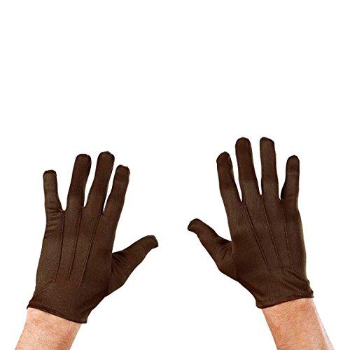 Kurze Handschuhe braun Zaubererhandschuhe mit Biesen Dünne Handschuhe Fingerhandschuhe Kostüm Handschuhe Hund Bär Tier Magier Damen (Handschuhe Braune)