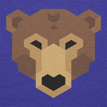 TEXLAB - Simple Bear - Damen T-Shirt Marine