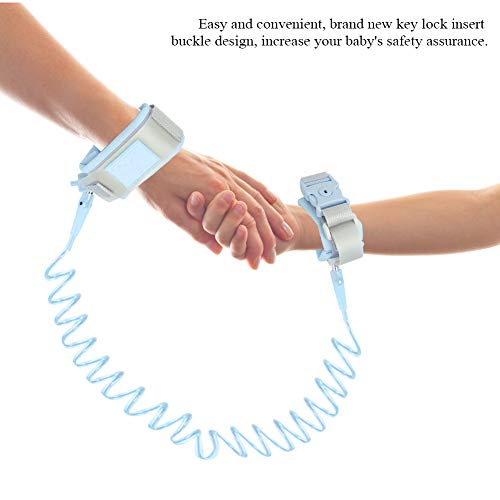 Anti Verlorene Handgelenk Gürtel,Baby Kinder Safty Anti Lost Walking Hand Gürtel Handgelenk Link Bungee Leine Sicherheit Kleinkind Harness mit Neustem Schlüsselschlossdesign,2M (Blau) (Bungee-baby)