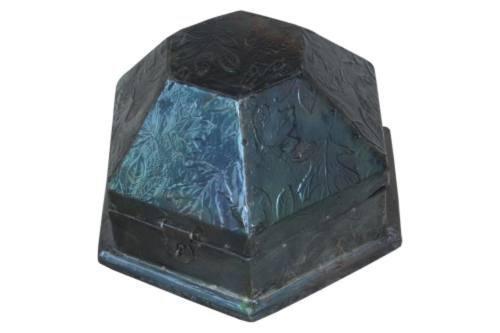 Madera spielerei 5773–Seis esquinas de madera caja de metal