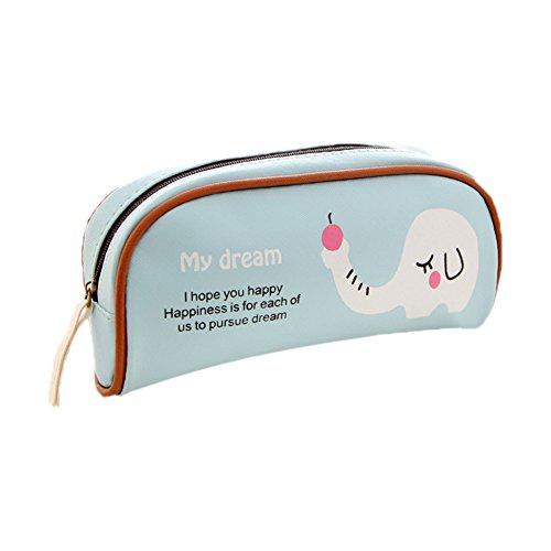 fablcrew Monedero Bolsa De Maquillaje Maquillaje 20* 16cm bolsa cosmetica estilo elefante bolso monedero para estudiantes y adultos