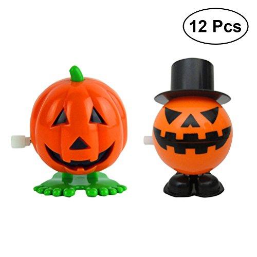 (TOYMYTOY 12 Stücke Halloween Springende Kürbisse Wind-up Spielzeug für Kindergeburtstag)