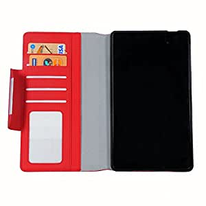 iPhone 6 Flip Cover, Slim Fit Case Cover, Protective Case for NEXUS 7 K009 (Red