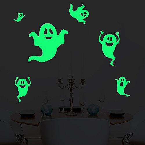 ko leuchtaufkleber wandsticker fluoreszierend und im Dunkeln leuchtend für Kinderzimmer und Babyzimmer Schlafzimmer, Wände & Decken (Geist Von Halloween Dekorationen)
