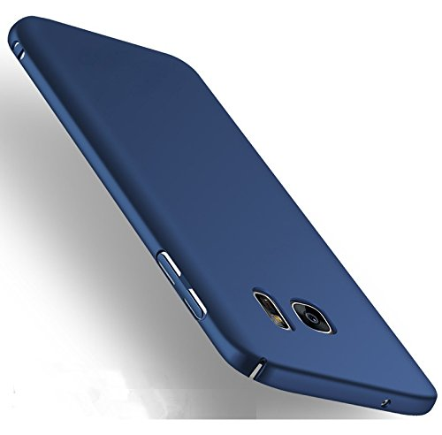 "WOW Imagine(TM) All Sides Protection ""360 Degree"" Sleek Rubberised Matte Hard Case Back Cover For Samsung Galaxy S7 – Blue"
