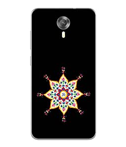 Fuson Designer Back Case Cover for Micromax Canvas Xpress 2 E313 (Mulicolor Black Background Women Girls Ladies)