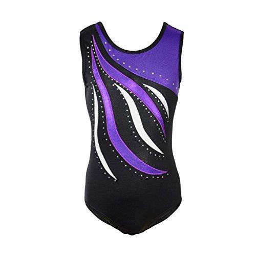 Blaward Kleine Mädchen Einteilige Sparkle Dancing Gymnastik Athletische Kleidung Sleeveless Ballett Tutu Kleid Gymnastikanzug Dancewear Sparkle Tutu