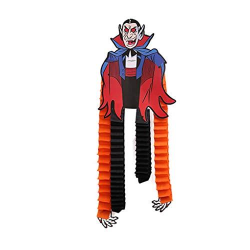 are Länge Tapezierung Geist Spinne Kürbis-Gesicht Zombie Aufhänger Halloween Dekoration Prop #5 23 * 35cm ()