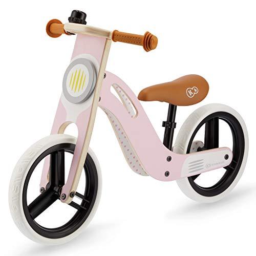 Kinderkraft Draisienne en Bois UNIQ, Eco, Enfant, Vélo Sans Pédales, Rose